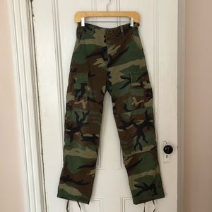 Pants - VINTAGE Button-Fly Fatigues. Rare small size.